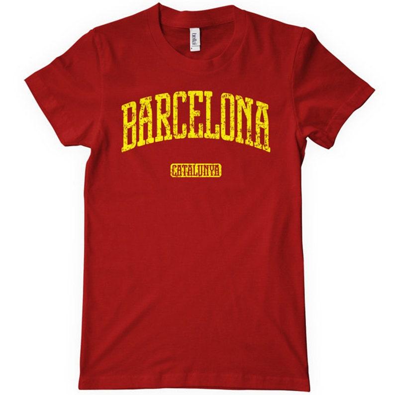 c6b60eae4 Women s Barcelona T-shirt S M L XL 2x Ladies Barcelona