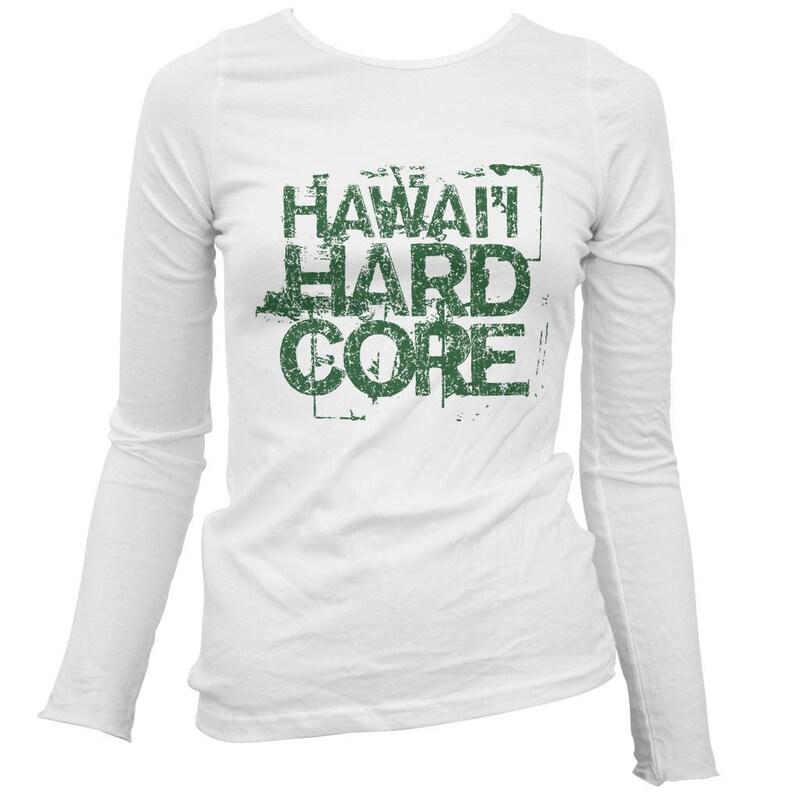 f251bc0f Women's Hawaii Hardcore Long Sleeve Tee S M L XL 2x | Etsy