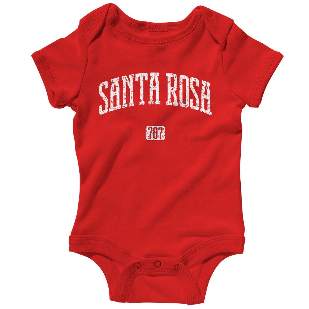 Baby One Piece Santa Rosa 707 California Infant Romper Nb Etsy