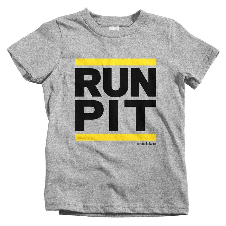 Baby Toddler Kids Run Pittsburgh T-shirt Run Kids Gift Running Kids Shirt and Youth Sizes Runner Kids Shirt Run PIT Kids Shirt