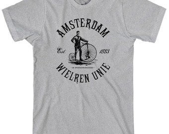 Amsterdam Bicycle Club T-shirt - Men and Unisex - Holland Cycling - XS S M L XL 2x 3x 4x - 4 Colors