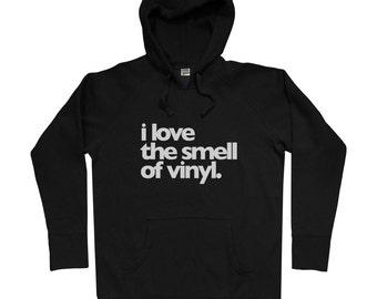 Vinyl Fetish Hoodie - Men S M L XL 2x - Rotofugi Hoody Sweatshirt - Designer Toys, Music, DJ, Hip Hop