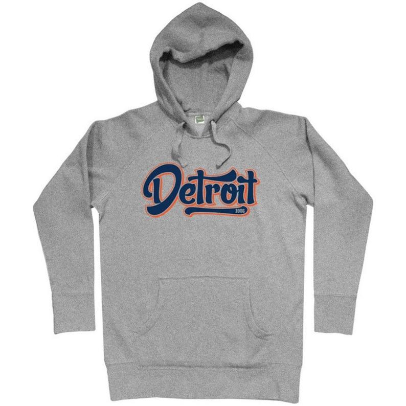 1806 Hoodie Detroit Script Men S M L XL 2x Detroit Hoody Sweatshirt