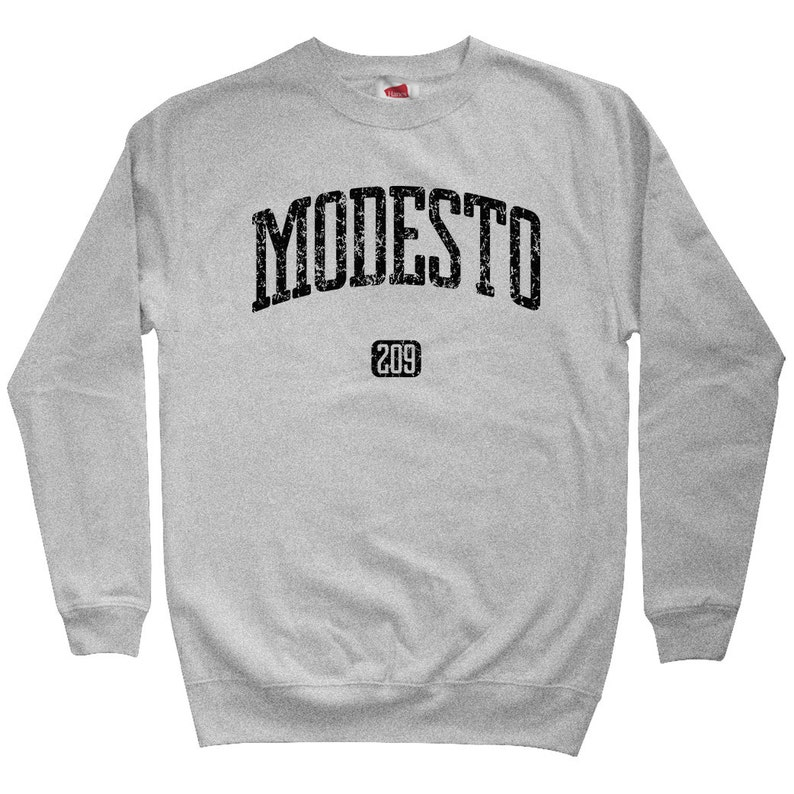 Modesto 209 California Sweatshirt City Sweater Her Gift For Men Crewneck Men S M L XL 2x 209 Area Code Shirt Modesto Sweatshirt
