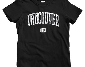 Kids Vancouver 604 T-shirt - Baby, Toddler, and Youth Sizes - Vancouver Tee, BC, Van City, British Columbia, Canada - 4 Colors