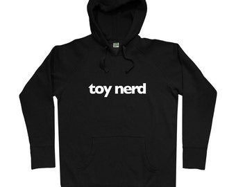 Toy Nerd Hoodie - Men S M L XL 2x - Rotofugi Hoody Sweatshirt - Designer Toys, Vinyl Toys, Geek