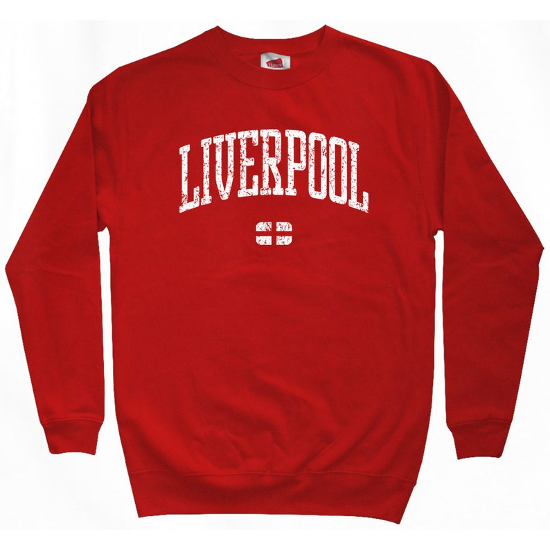 hot sale online 83a34 b01ee Liverpool Sweatshirt - Men S M L XL 2x - Liverpool Shirt - England, United  Kingdom, Great Britain