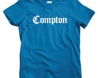 Kids Compton Gothic T-shirt - Baby, Toddler, and Youth Sizes - Compton Tee, Los Angeles, California, Hip Hop - 4 Colors