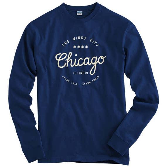 LS Enjoy Chicago Tee - Long Sleeve T-shirt - Men S M L XL 2x 3x 4x - Windy City Shirt, Chicago Shirt, Chi-Town Shirt, Chicagoan Shirt, Pride