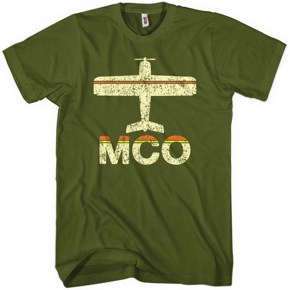 Fly Orlando Mco Airport T Shirt Men And Unisex Xs S M L Xl Etsy