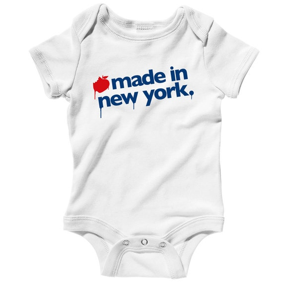 Baby Shirt Infant Creeper Romper City Bronx Gothic NYC One Piece NB to 24M