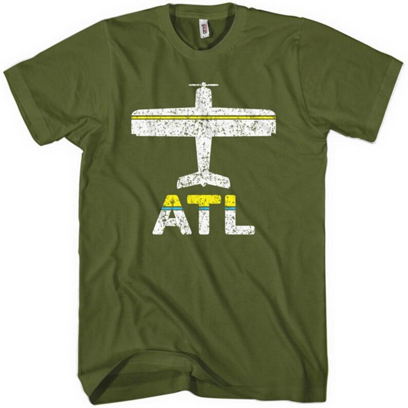 XS-4XL ATL Hartsfield Jackson Airport Airplane NEW FLY ATLANTA T-shirt