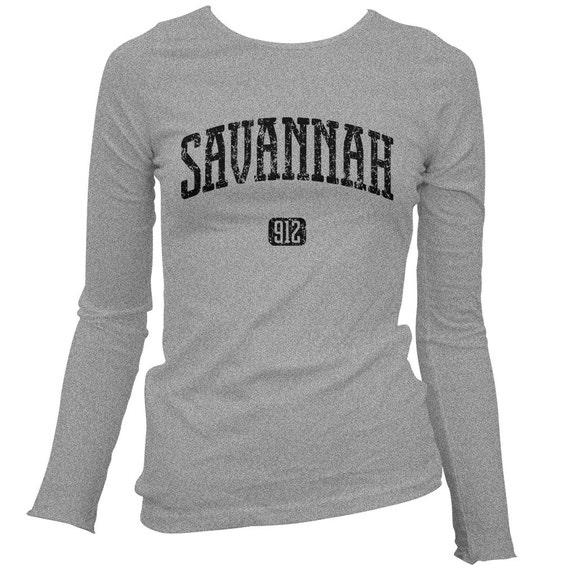 Womens Savannah 912 Georgia Long Sleeve Tee S M L XL 2x