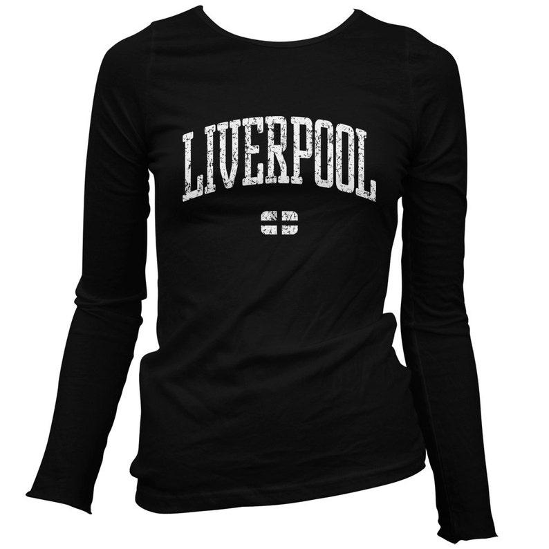 check out cbdf3 85af7 Women's Liverpool Long Sleeve Tee - LS Ladies T-shirt - S M L XL 2x -  Liverpool Shirt - England - 3 Colors