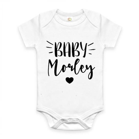 PERSONALISED Unisex footprint babygrow sleepsuit new baby gift baby shower gift