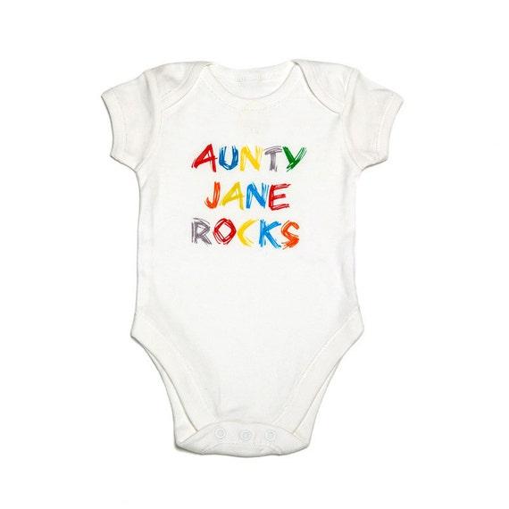 1ffe3b533 Funky PERSONALISED baby vest bodysuit onezie. White unisex