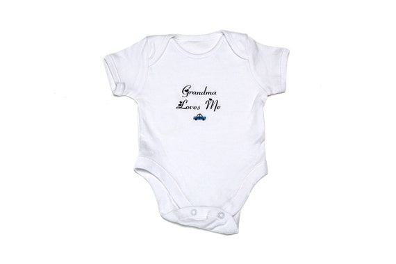 Baby boy clothing PERSONALISED cute car babygrow sleepsuit ANY NAME baby shower