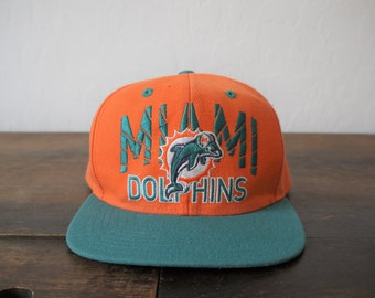 Vintage Miami Dolphins NFL snapback baseball hat trucker hat   Vintage  Reebok Miami Dolphins Football Snapback Hat 1990s Rare 6b2d404fa