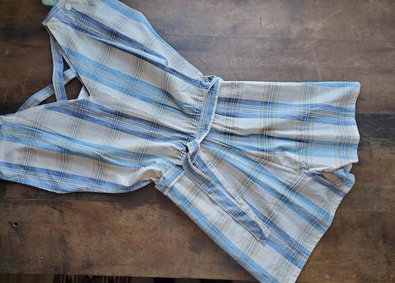 Vintage plaid romper jumpsuit playsuit / vintage 7