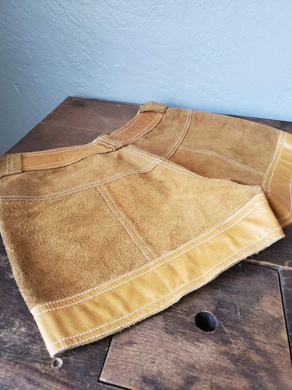 Vintage brown suede and leather shorts / vintage … - image 6