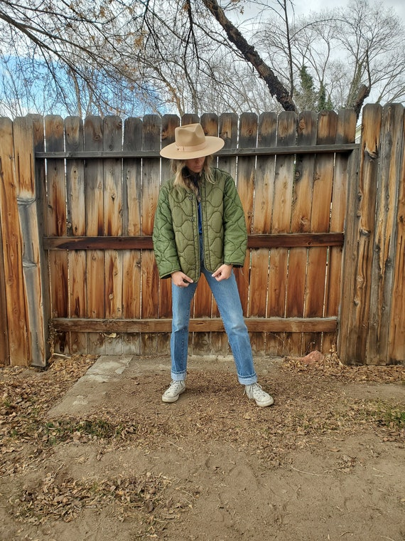 Vintage quilted army surplus liner jacket / Baseca