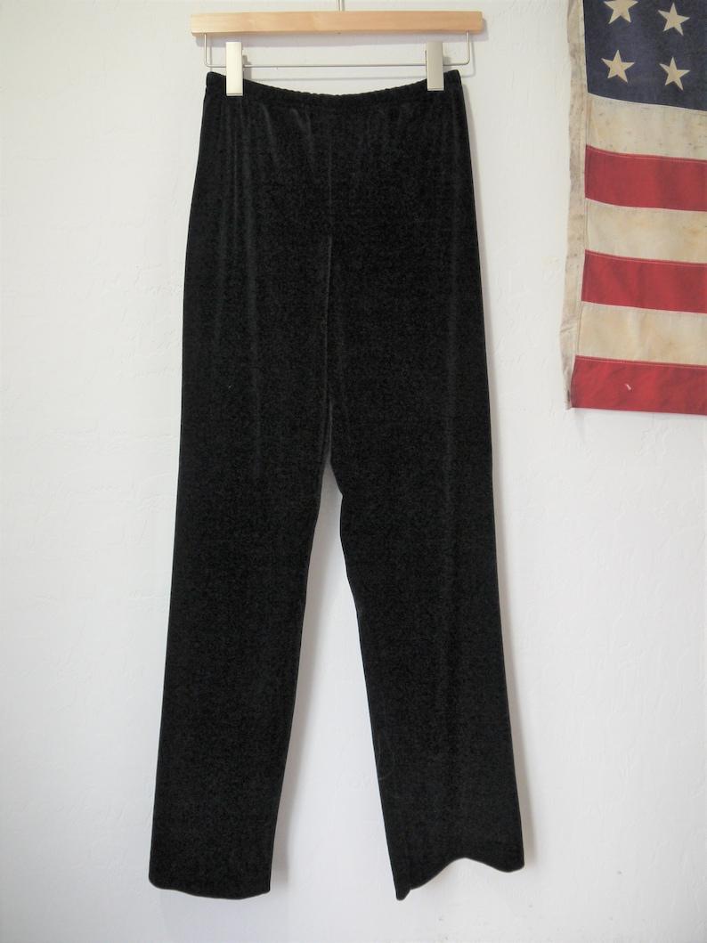 Vintage wide leg velvet pants  high waist wide leg velvet palazzo pants  90s velvet pants  vintage small velvet high wasit pants