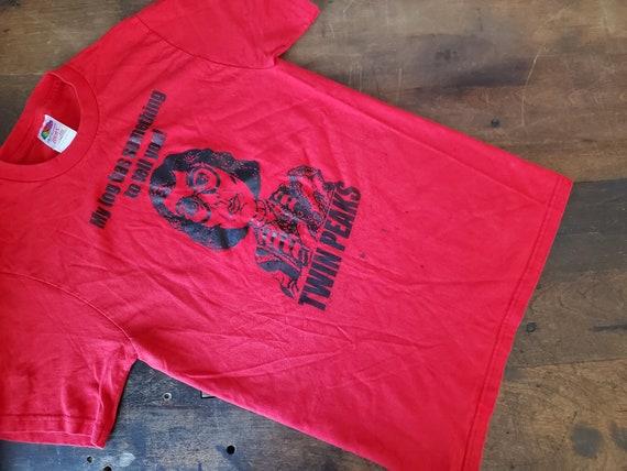 Vintage Log Lady Twin Peaks 90s tshirt / rare Twin