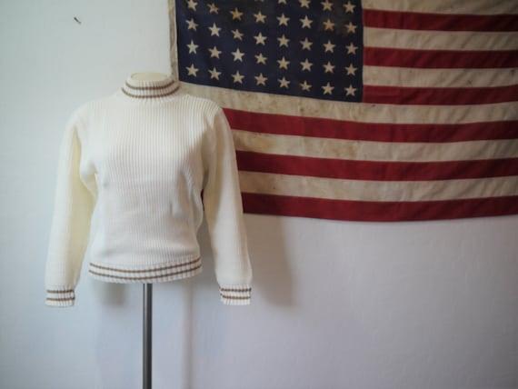 Vintage varisty turtleneck sweater / vintage varsi
