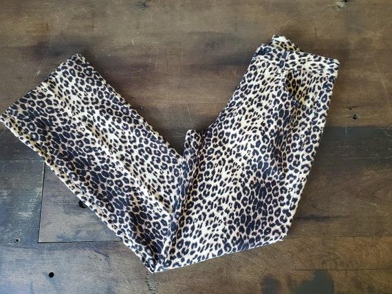 Vintage leopard print pants / 90s leopard print pa