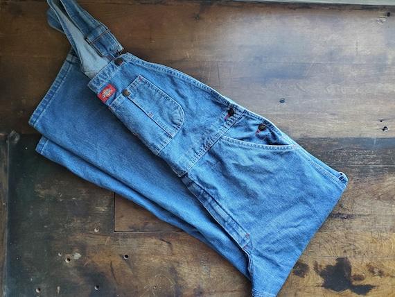 Vintage Dickies overalls / vintage denim bib dunga