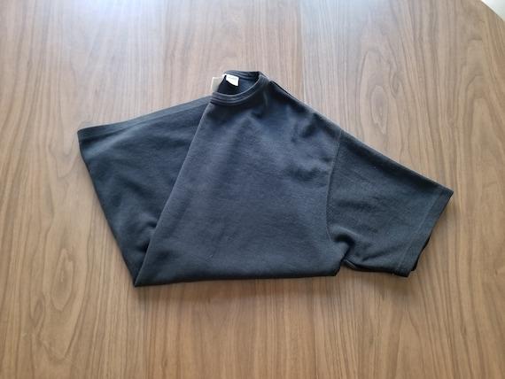 Vintage 90s oversized black ribbed tshirt dress /