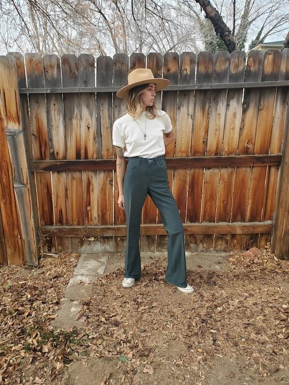 Vintage 70s Levis green retro poly pants / vintage