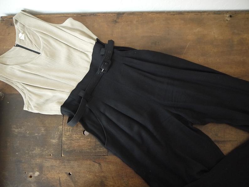 312ff009144b 90s black jumpsuit   vintage black jumpsuit romper pantsuit