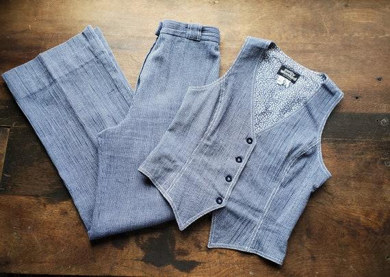 Vintage Patty Woodard  vest and bell bottoms set /