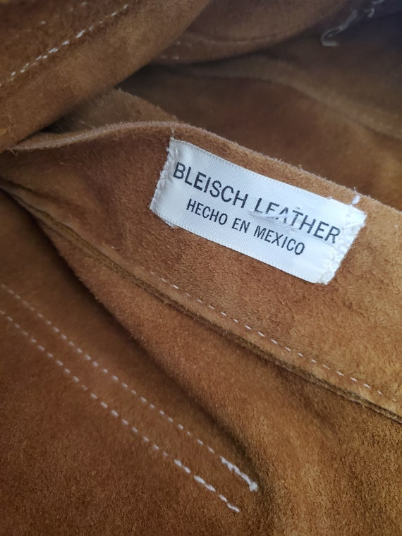 Vintage brown suede and leather shorts / vintage … - image 5