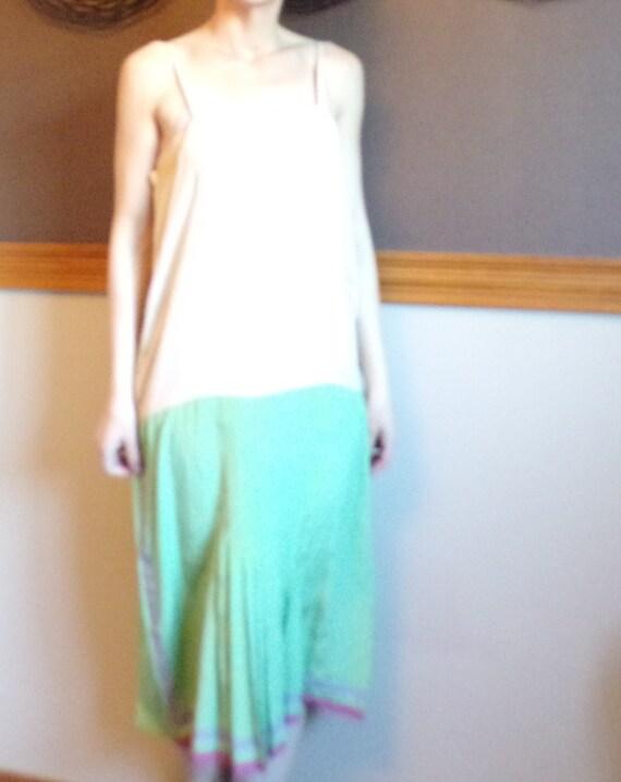 MINT GREEN 1920's DRESS slip dress underdress 20's