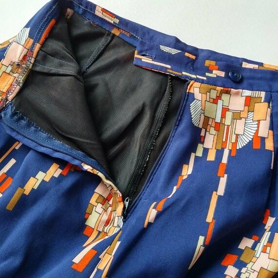 HIGH WAIST WIDE leg palazzo pants 1970's 70's S (… - image 9