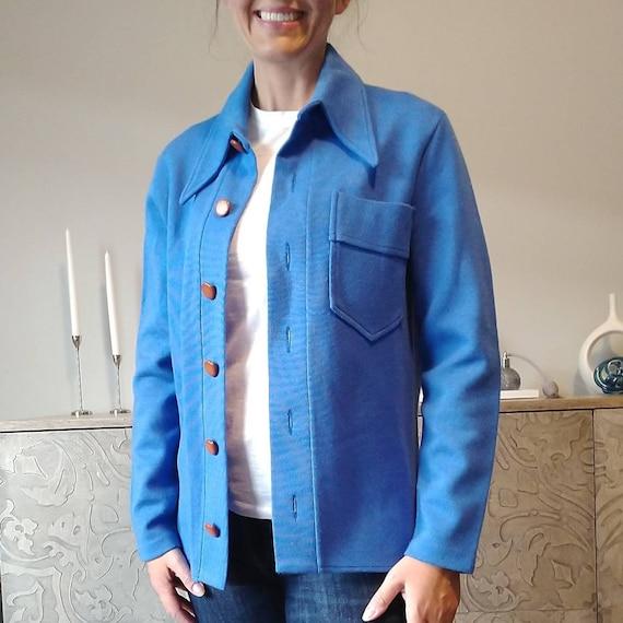 POOL BLUE shirt JACKET shirtjac unisex (G11)
