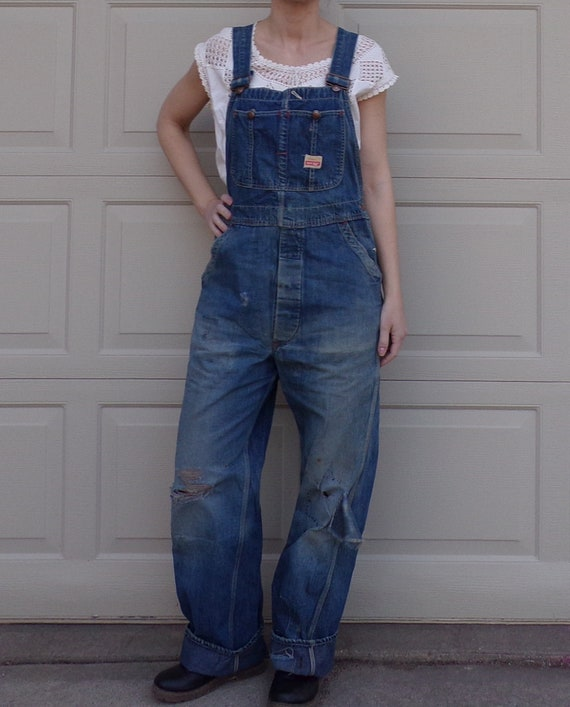 AUTHENTIC FARMER OVERALLS vintage pay day 35 waist