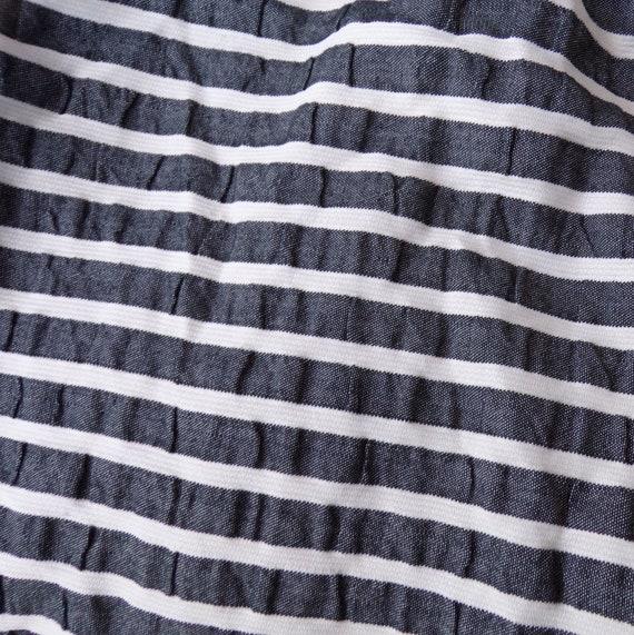 SEERSUCKER STRIPED DRESS 1960's 60's summer S (G9) - image 8