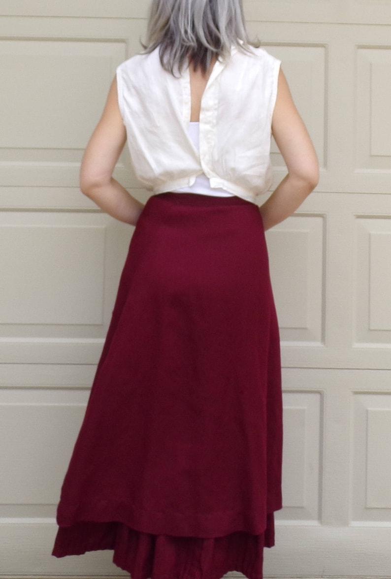 WHITE EDWARDIAN BLOUSE layering sleeveless back button xs S H2