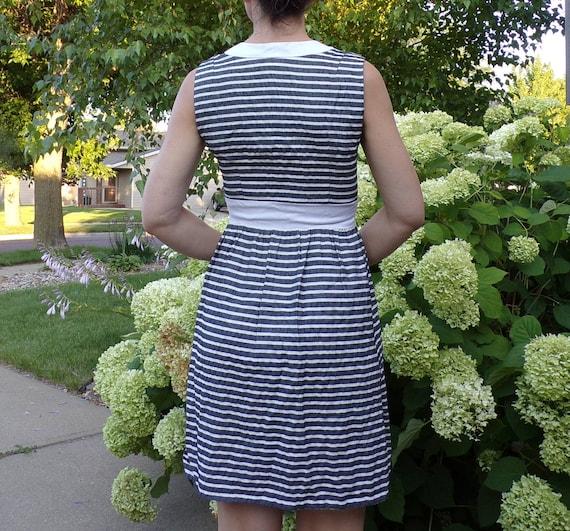SEERSUCKER STRIPED DRESS 1960's 60's summer S (G9) - image 7
