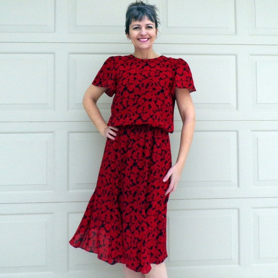 1980s does 1940s rose garden dress \u2022 sm