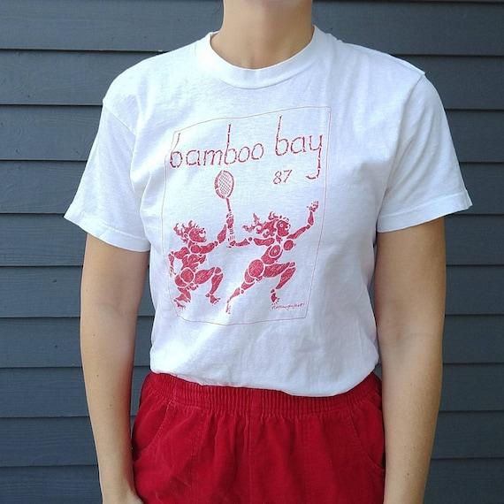 1987 BAMBOO BAY TEE single stitch naughty nude shi