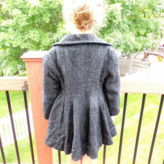 speckled gray 1950's VINTAGE PRINCESS COAT fit and
