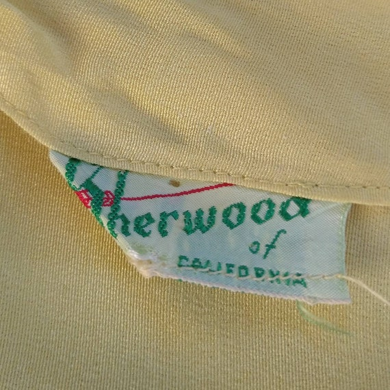 BUTTER YELLOW 1940's 1950's BLOUSE M L (F9) - image 10