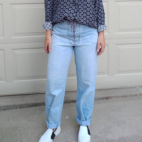 1980's 1990's FORENZA LOOSE JEANS straight high wa