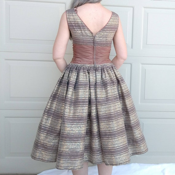 STRIPED PARTY DRESS midcentury prom dress 50's 60… - image 6