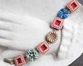 Antique button bracelet b...