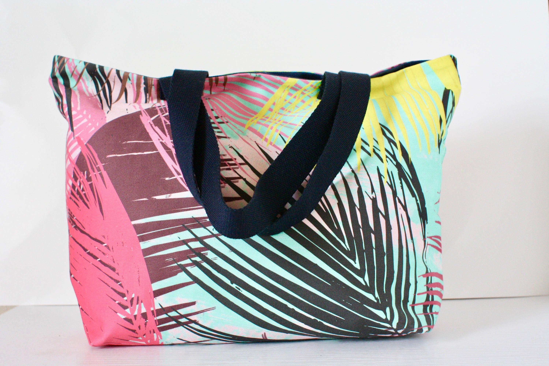 Palme Blätter Einkaufstasche Strandtasche Sommertasche | Etsy